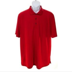 IZOD Men's XLarge Red Casual Textured Polo Shirt